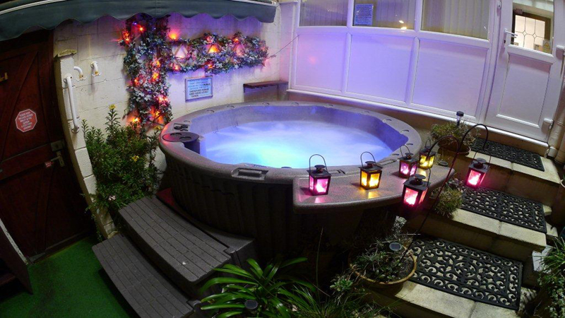 Hot Tub Garden Blackpool Gay Hotel